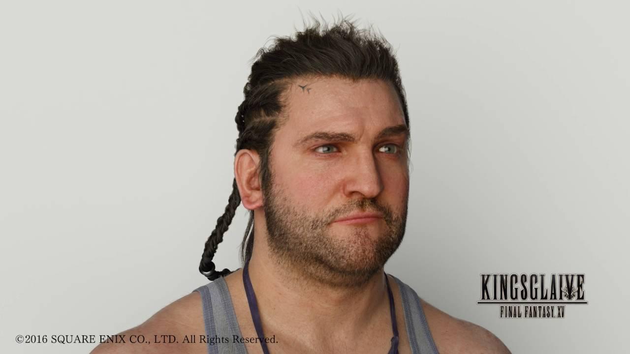 The hair of Libertus from Kingsglaive Final Fantasy XV