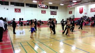 Yale Ballroom Dance Competition 2012 Gold Cha-Cha Rumba Final