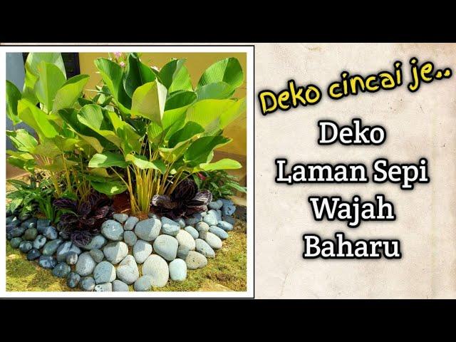 Hias Laman Mini Tepi Rumah Small Landscaping Decorations Youtube
