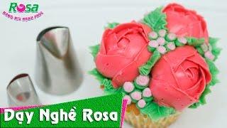 Hướng dẫn trang trí bánh Cupcake hoa hàn quốc tuyệt đẹp