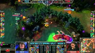 CLG (Doublelift Caitlyn) VS TSM (Wildturtle Lucian) Highlights - NA LCS 2014 Spring W5D2
