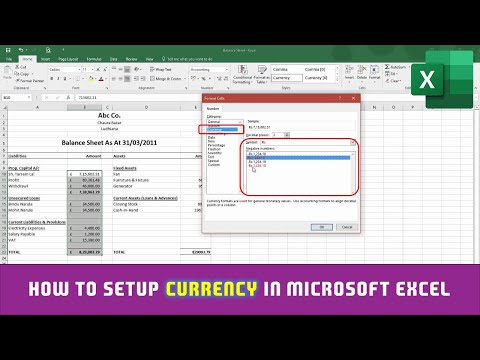 How to Format Numbers as Currency in Microsoft Excel 2016 Tutorial | The Teacher