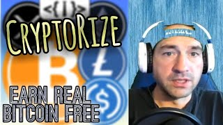 CRYPTORIZE Earn Real Free Bitcoin Money Cash Rewards App Apps Game Online 2020 Review Youtube Video