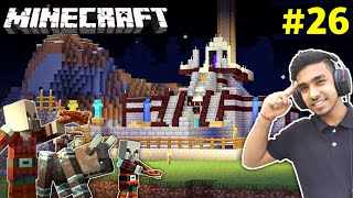 CAN I DEFEND MY CASTLE FROM A PILLAGERS RAID | MINECRAFT GAMEPLAY #26