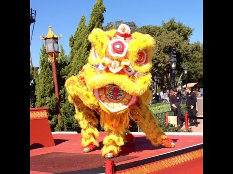 Chinese Lion Dancers - Epcot's Holidays Around the World