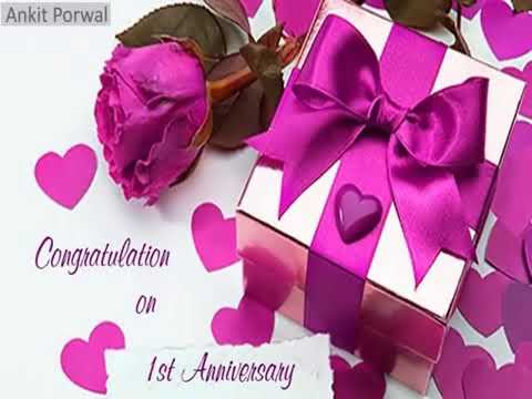 1st wedding anniversary sms greetings