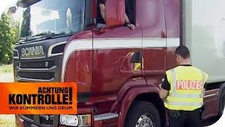 6000€ Strafe! LKW-Fahrer fährt ohne Fahrerkarte! Schwarzarbeit? | Achtung Kontrolle | kabel eins