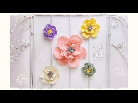 """Florina"" fiore in feltro senza colla & senza cucire"