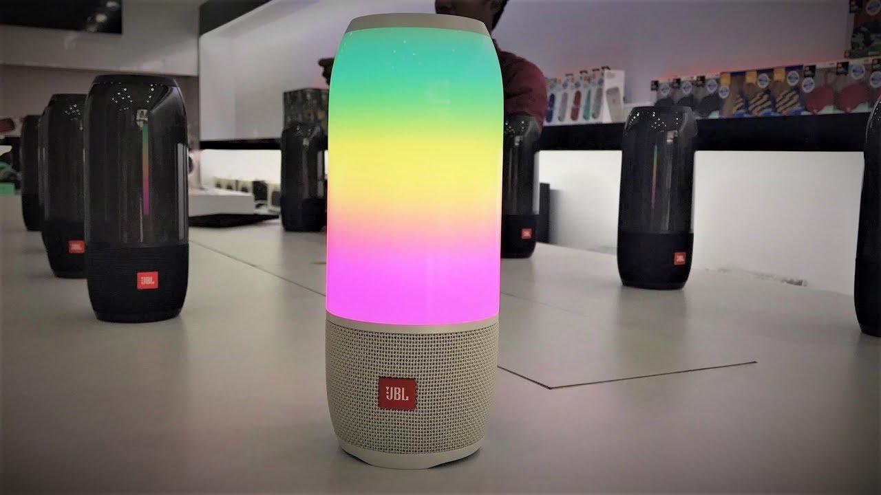 JBL Pulse 3 White Color Option Unboxing - So nice | Best Portable Speaker |  JBL Showroom Cambodia