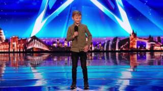 Britain's Got Talent - Little Kid Calls Amanda Holden A Dog | Ned Woodman  Audition