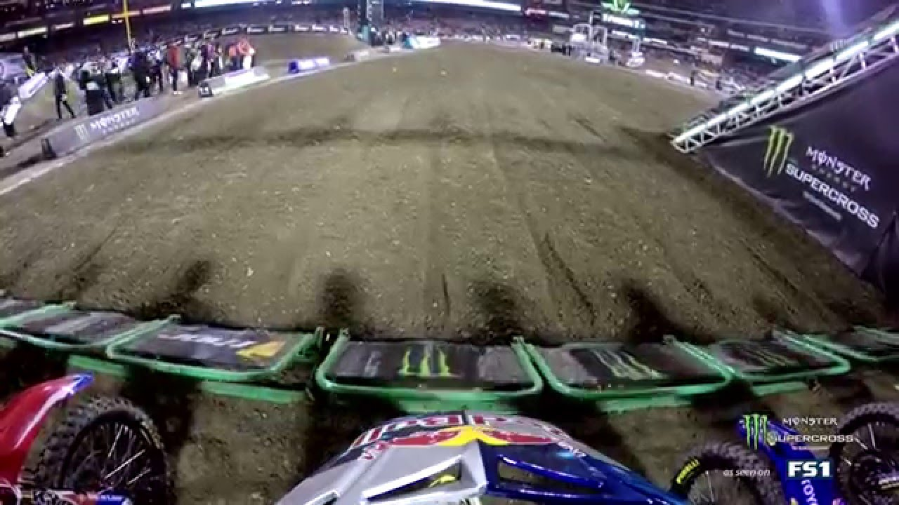 GoPro: James Stewart Main Event Crash with Ryan Dungey 2016 Monster Energy Supercross from Anaheim 1 - Motor Informed