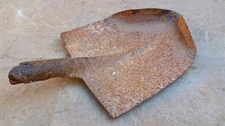 Rusted Shovel Restoration - Construction Tool Restoration