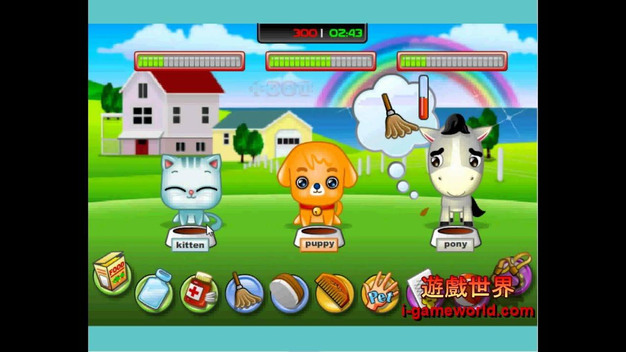 飼養可愛寵物-遊戲世界 - YouTube