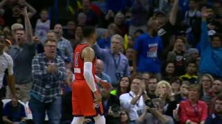 Russell Westbrook MONSTER Dunk in OKC | 02.26.17