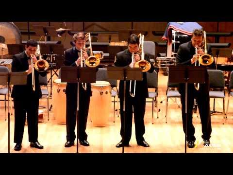 Miami Arts Charter School Trombone Quartet at the University of Miami