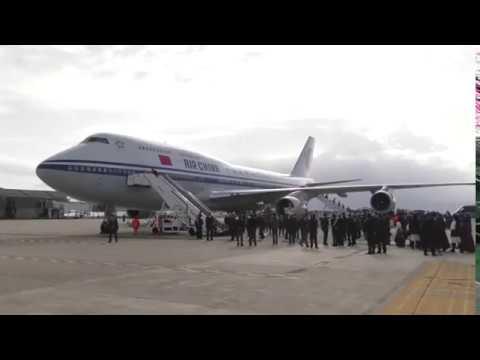 Xi Jinping Arrivo Cagliari