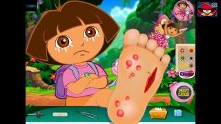 Даша путешественница лечим ногу стопу Game Dora