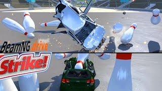 CRASH TEST Auto Reali: BOWLING - BeamNG Drive