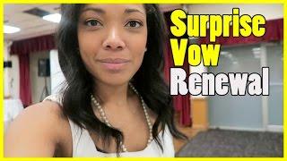 Surprise Vow Renewal