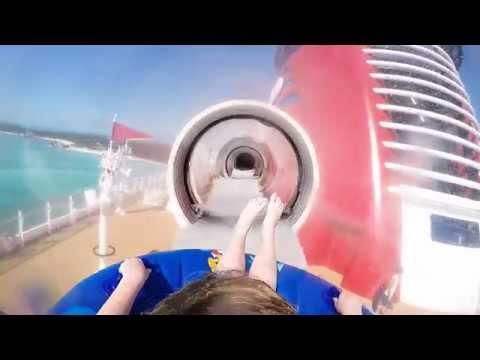 Disney Cruise Water Slide Fun.