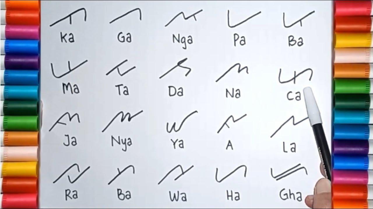 Disini kita hanya ingin mememaparkan apa itu huruf induk dan apa itu anak huruf, berikut kita simak: Belajar Membaca Dan Menulis Aksara Lampung Huruf Lampung Youtube