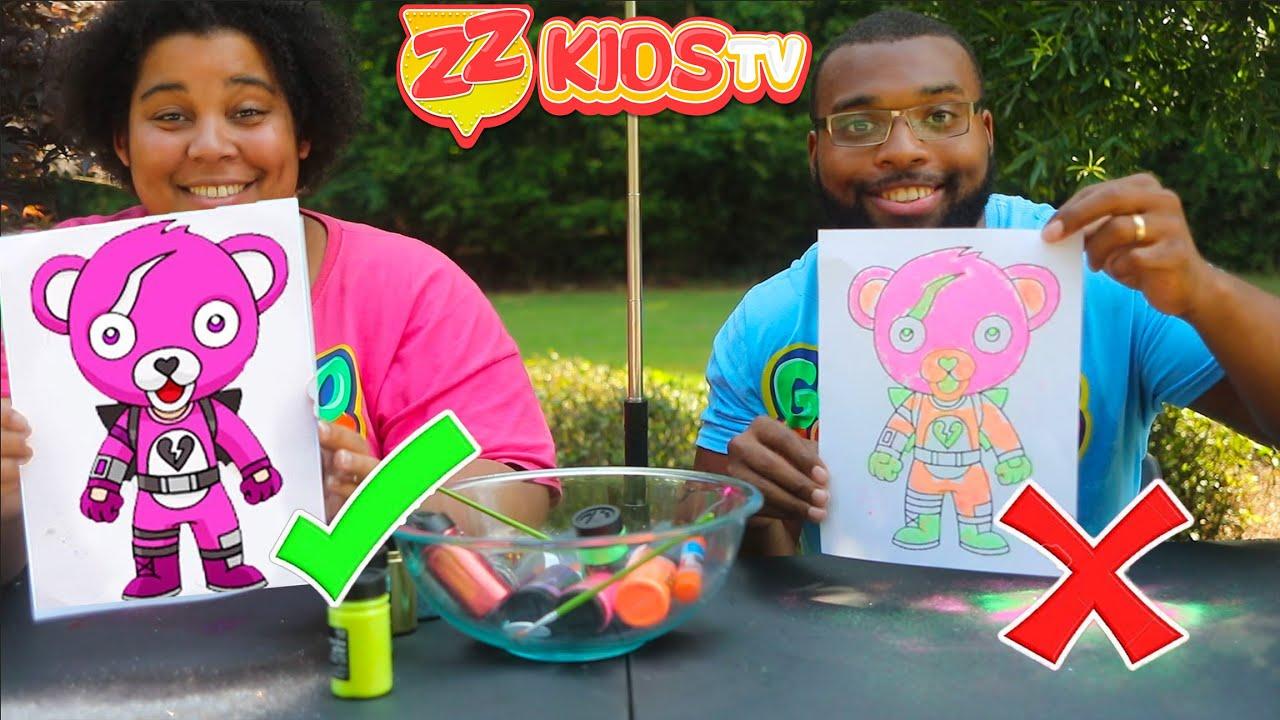 Zontay Family Fortnite 3 Glitter Challenge!