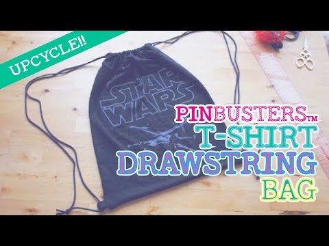 dcdde4fad1b How To Make A No-Sew T-Shirt Drawstring Backpack    DOES THIS PIN REALLY  WORK