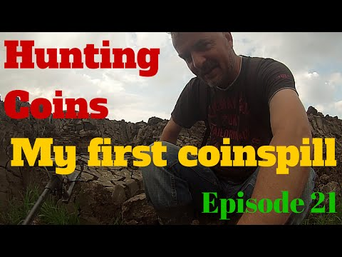 Hunting Coins found his first Coinspill June 2015