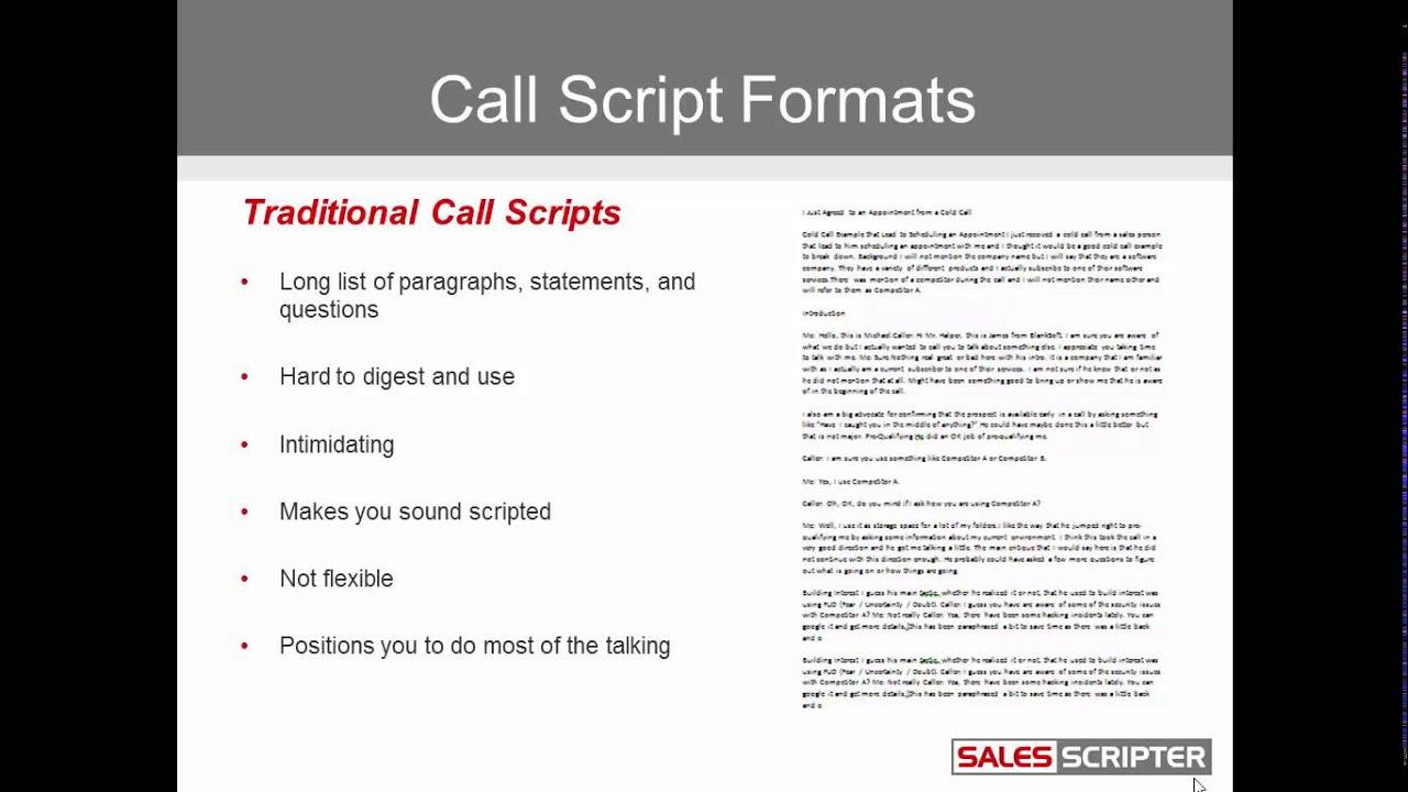 Sales Pitch Script |