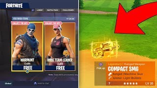 NOUVEAU SKINS GRATUIT EN FORTNITE NEW COMPACT SMG GAMEPLAY ET PLAYGROUND RETURNING! MISE À JOUR CRAZY FORTNITE