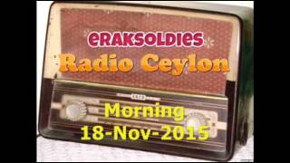 Radio Ceylon 18-11-2015~Wednesday Morning~02 Purani Filmon Ka Sangeet