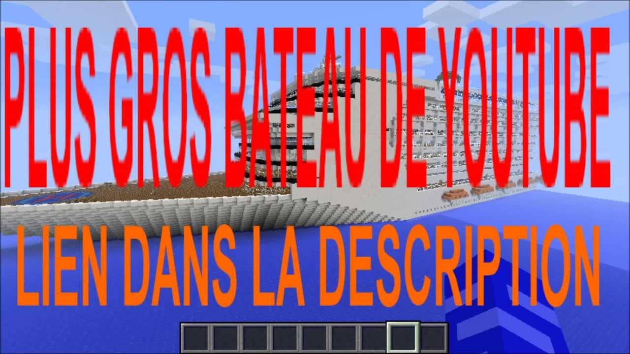 Construction de fou minecraft plus grand bateau du monde youtube - Minecraft construction de fou ...