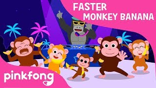 Monkey Banana Faster Version | Baby Monkey | Animal Songs | Pinkfong Songs for Children