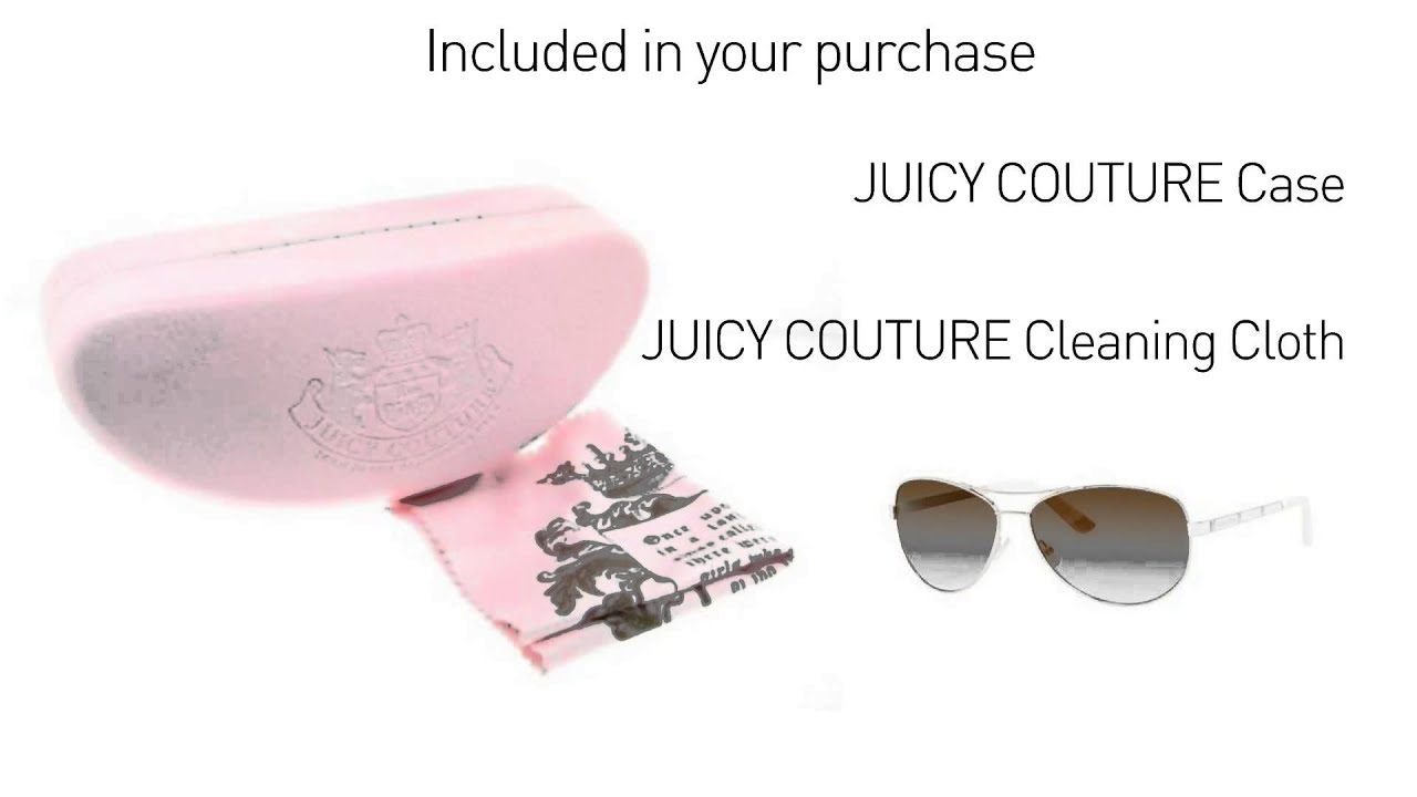 7efc3dc32d Juicy Couture JU 554 S Light Gold Womens Aviator Sunglasses - YouTube