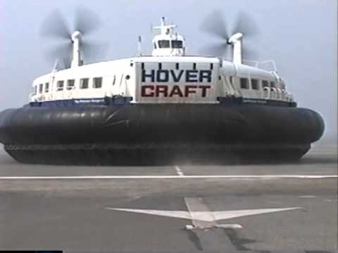 Hoverspeed hovercraft arriving in Calais