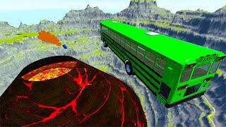 TOP 100 Open Bridge Jumping Car Crashes Final Part - BeamNG Drive | BeamNG-Destruction screenshot 4