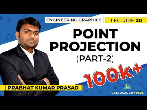 Engineering Graphics | Projection | Point Projection | Part 2