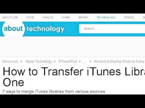 How-To Consolidate Multiple Itunes Libraries