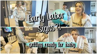 Early Labor Signs?! 38 Week Appointment Update & Getting ready for Baby!