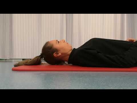 Stabiliteit oefening nek, fysiotherapie Máxima MC