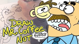 Draw Mr. Coffee Nut - Harptoons