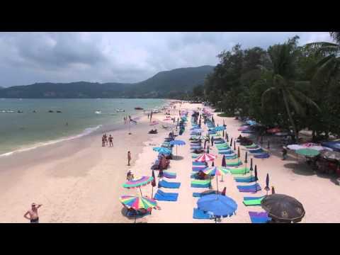 H264 4KDJI Phantom 4  of 2016 Flight shooting Patong Beach Phuket Thailand part 02