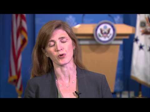 UN Ambassador Power: 'Relentless' diplomacy in South Sudan