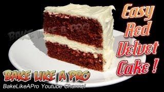 Easy Red Velvet Cake Recipe !