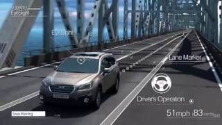 Lane Sway Warning - Subaru EyeSight Advanced Driver Assist System