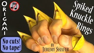 Origami Spiked Knuckles!