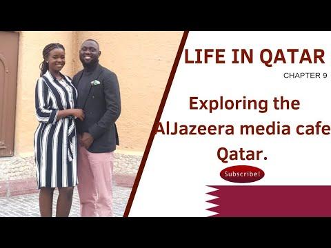QATAR VLOG: EXPLORING Al Jazeera MEDIA CAFE|  LIFE IN QATAR | Tunji and Adeola EP08