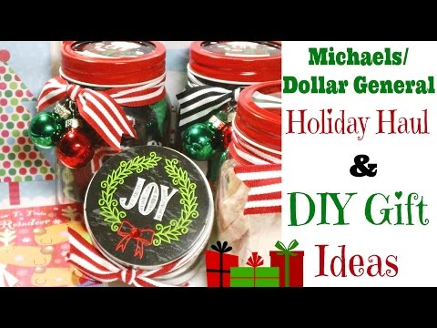 Michaels/Dollar General Holiday Haul & DIY Gift Ideas!