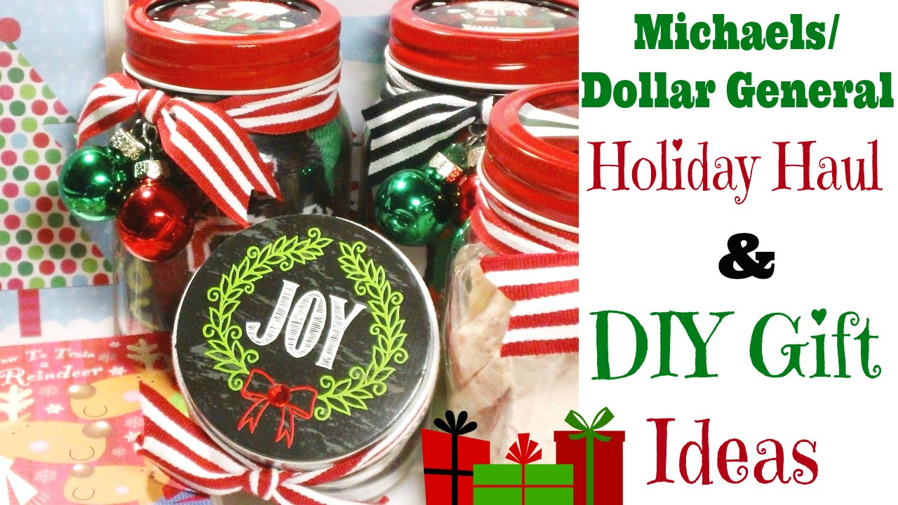 Michaels/Dollar General Holiday Haul & DIY Gift Ideas! - YouTube
