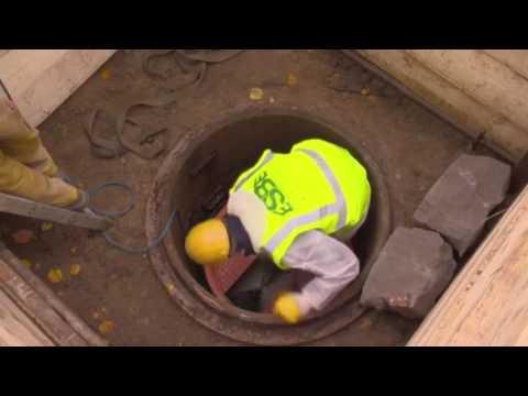 Устройство колодцев для канализации в Германии